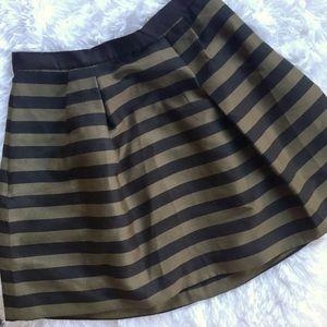 H&M Striped Flare Skirt